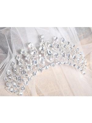 Elegant Alloy Clear Crystals Wedding Party Headpiece