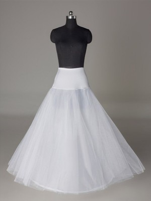 Tulle Netting A-Line 2 Tier Floor Length Slip Style Wedding Petticoat