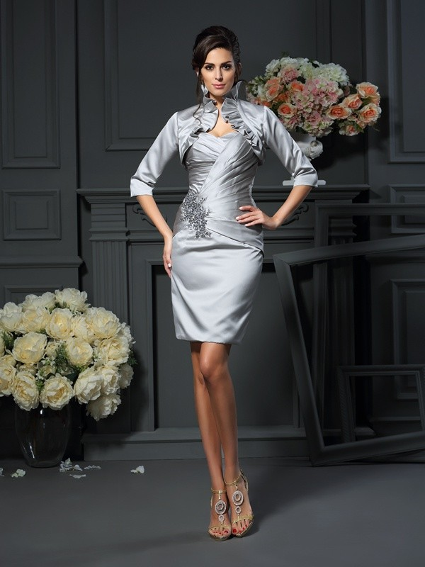Grey Sweetheart Short/Mini Mother of the Bride Dresses with Beading