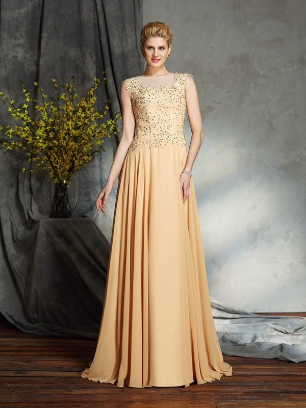Chiffon A-Line Floor-Length Scoop Other Mother of the Bride Dresses
