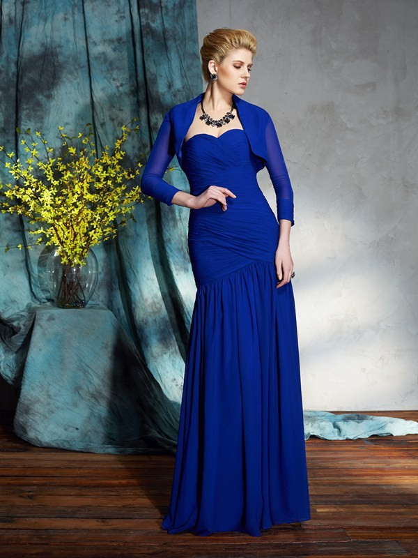 Sheath Sweetheart Floor-Length Royal Blue Mother of the Bride Dresses