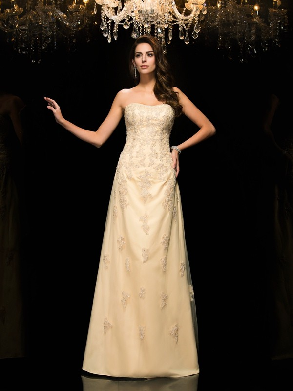 Champagne Sweetheart Floor-Length Mother of the Bride Dresses