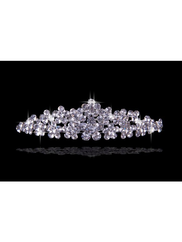 Beautiful Czech Rhinestones Flowers Wedding Party Headpiece