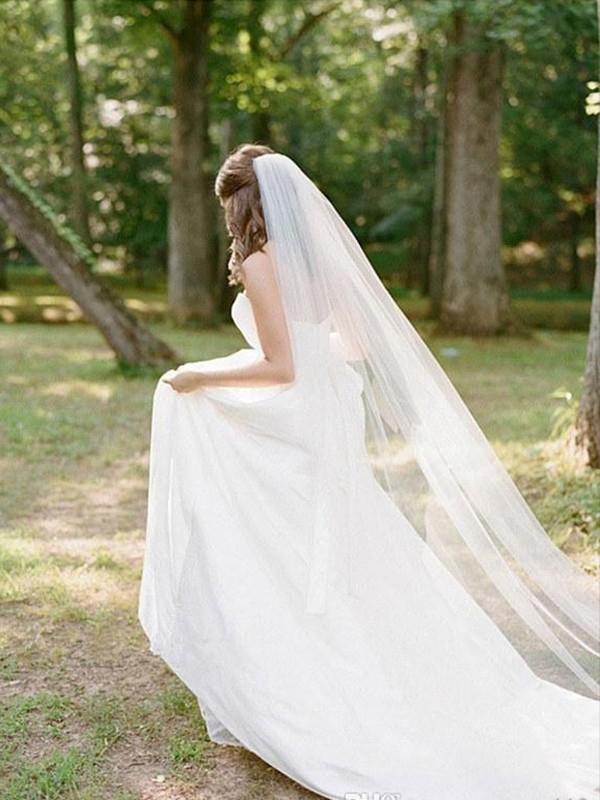 Elegant Tulle Long Wedding Veils