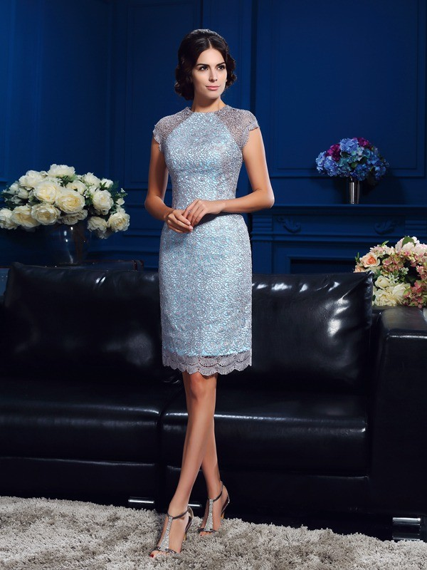 Sheath Scoop Short/Mini Other Mother of the Bride Dresses with Lace