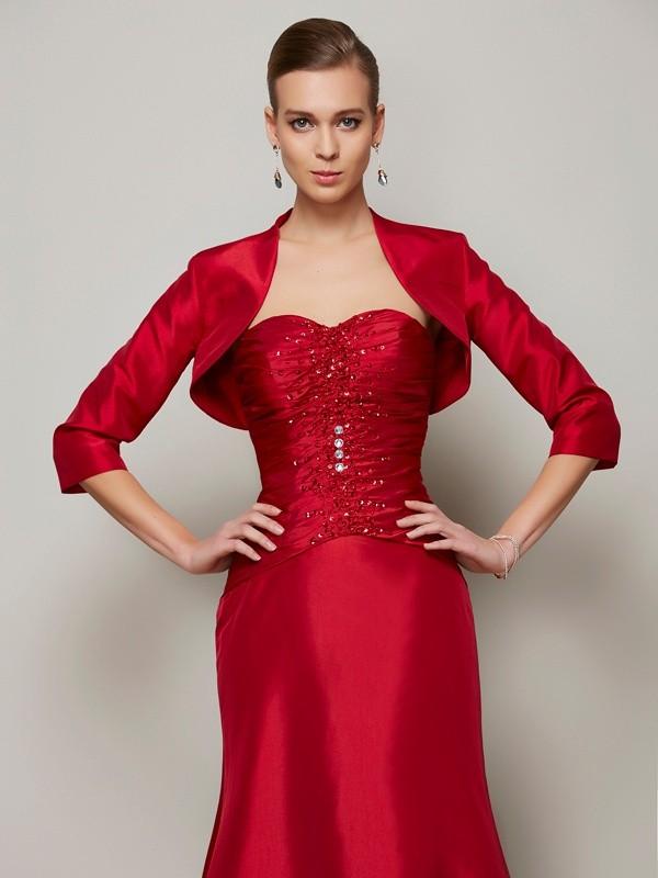 3/4 Sleeves Taffeta Special Occasion Fashion Wrap