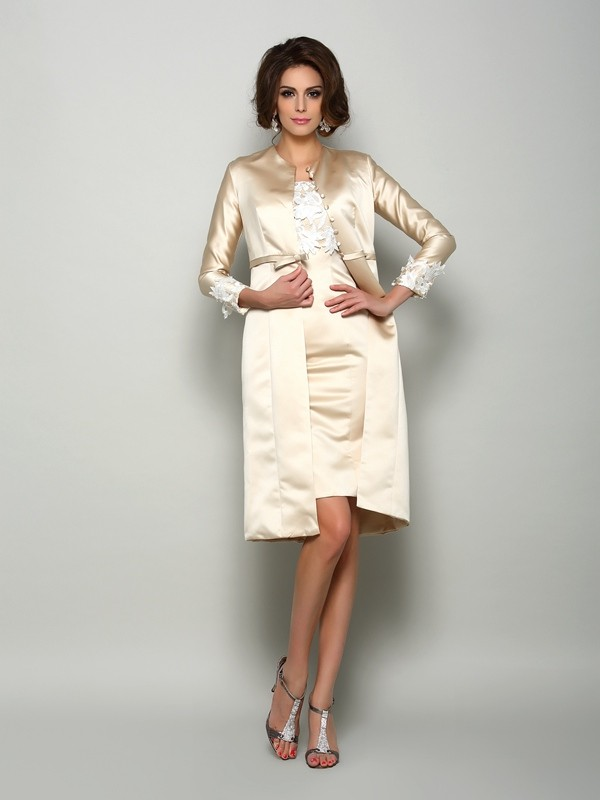 Satin Long Sleeves Applique Special Occasion Fashion Wrap
