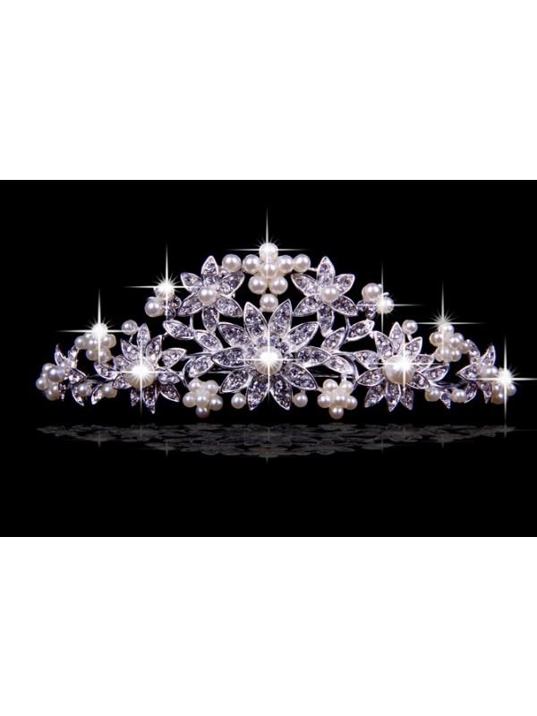 Stunning Czech Rhinestones Flowers Wedding Headpieces