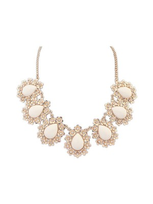 Occident All-match Floret Water Drop Temperament Fashion Necklace
