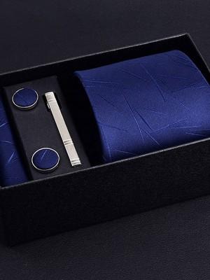 Delicate Polyester Tie Tie Clip Cufflinks