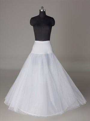 Tulle Netting A-Line 2 Tier Floor Length Slip Style Wedding Petticoat