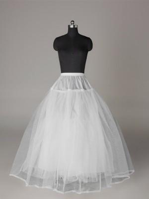 Tulle Netting Ball-Gown 3 Tier Floor Length Slip Style Wedding Petticoat