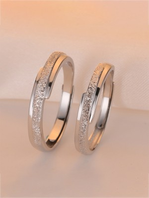 Fashion 925 Sterling Silver Hot Sale Adjustable Couple Rings