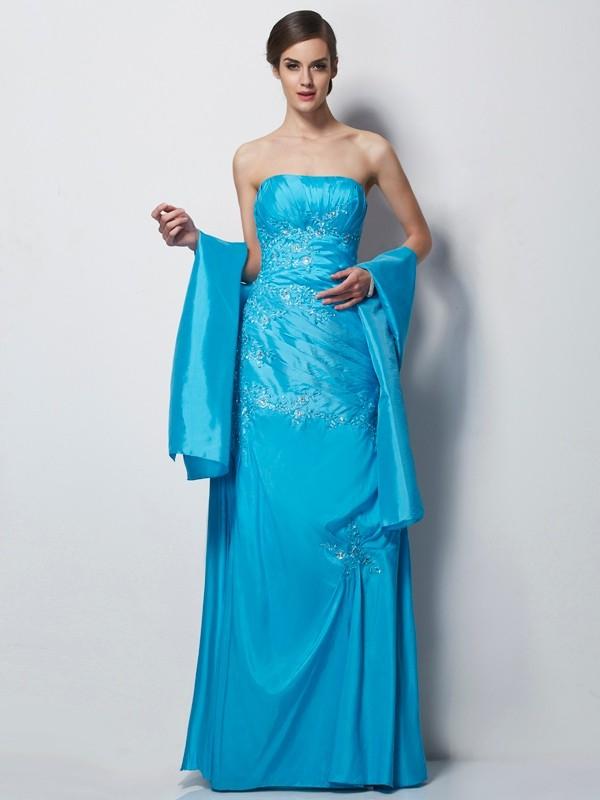 Taffeta A-Line Long Sweetheart Blue Mother of the Bride Dresses