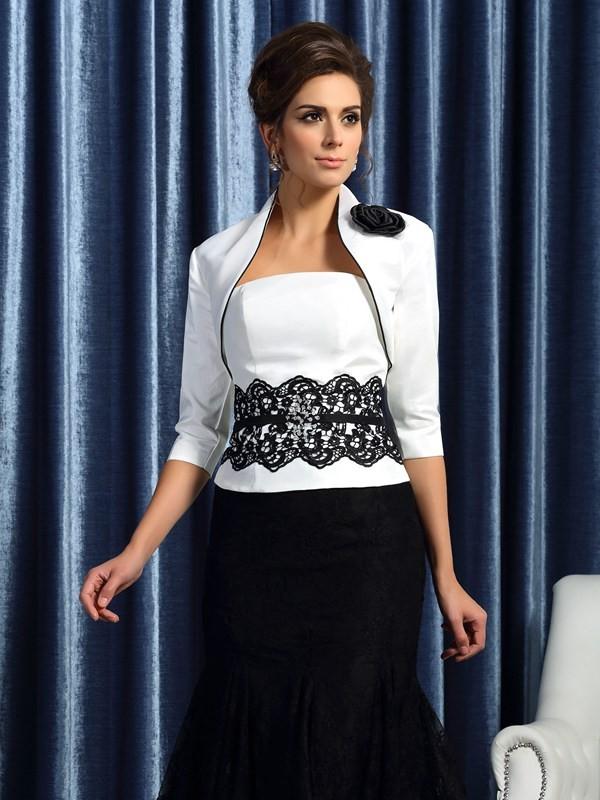 Taffeta 3/4 Sleeves Special Occasion Fashion Wrap