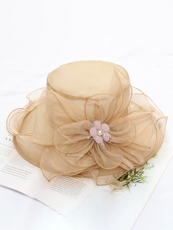 Ladies' Elegant Silk Flower Kentucky Derby Hats/Tea Party Hats