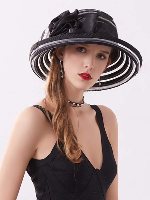 Ladies' Charming Silk Flower Adjustable Beach/Sun Hats