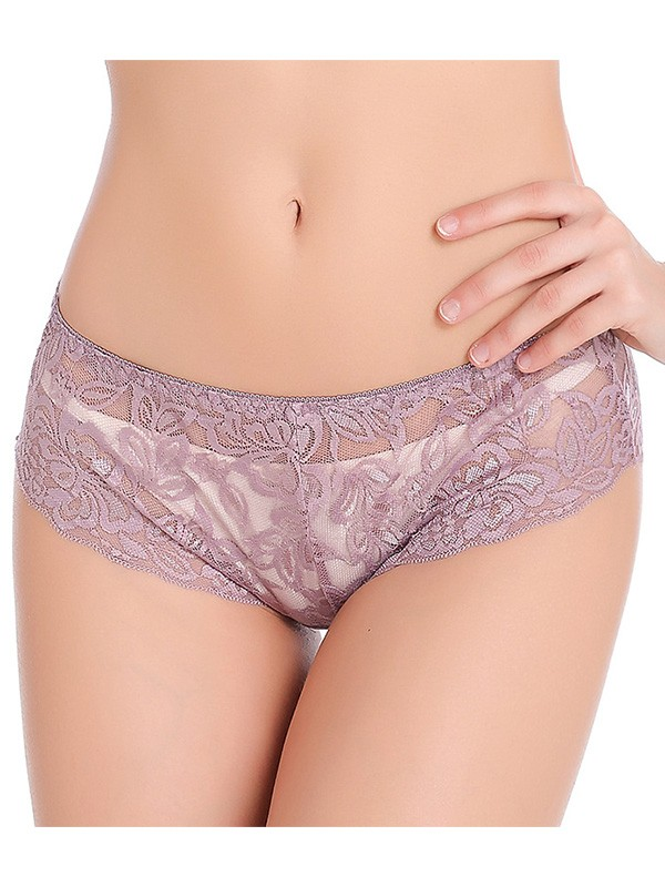 Sexy Breathable Lace Seamless Plus Size Panties