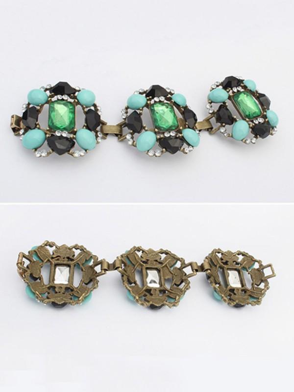 Occident Stylish Emeralds Luxurious Fashion Bracelets