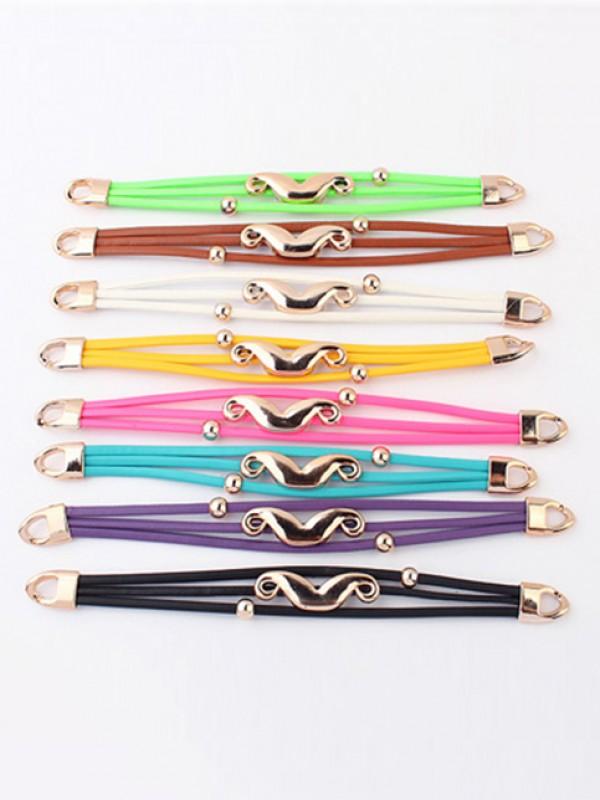 Occident Fluorescent colors Major suit Mustache Fashion Bracelets