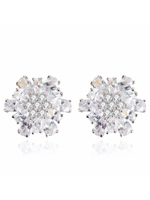 New Alloy With Zircon Women's Earrings