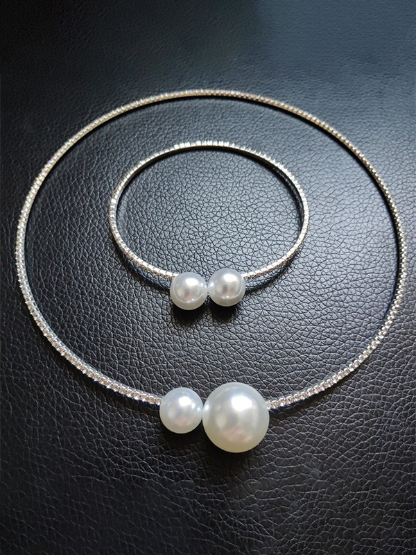 Pretty Rhinestone With Pearl Jewelry Sets For Women