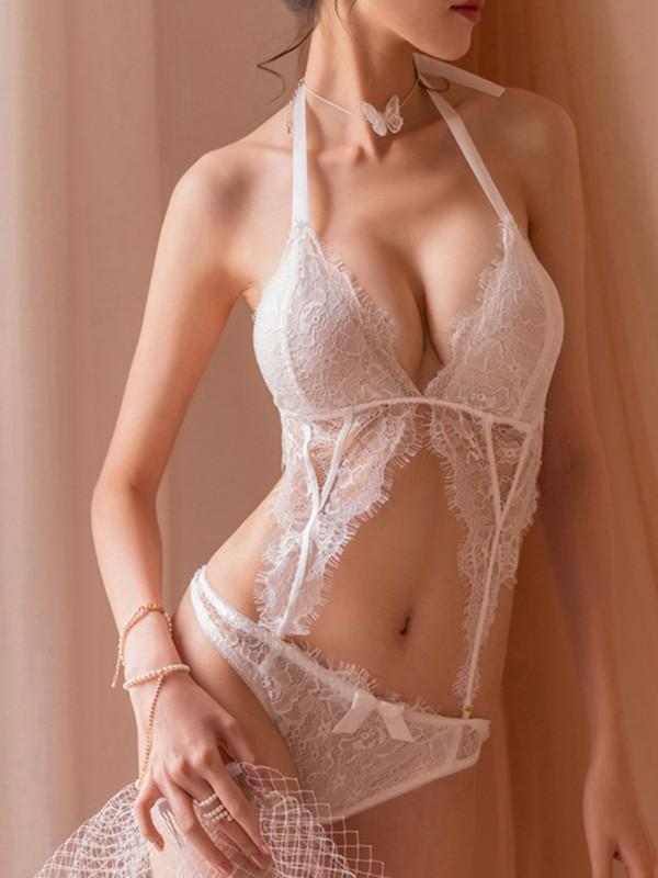 Sexy Halter Nylon Lingerie Sets