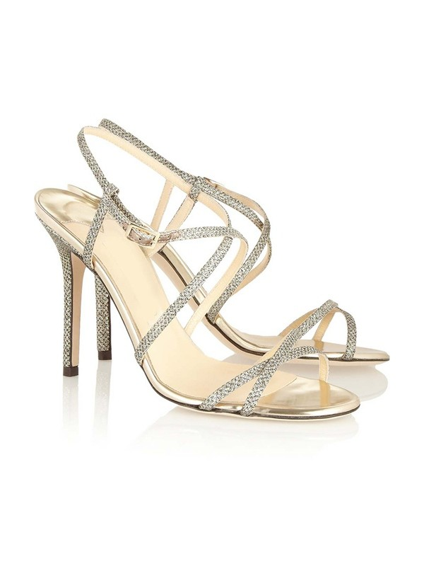 Peep Toe Stiletto Heel With Buckle Sandals Shoes
