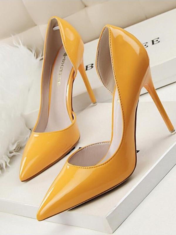 Women's Stiletto Heel PU Closed Toe High Heels