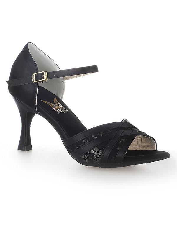 Peep Toe Stiletto Heel Satin Buckle Dance Shoes