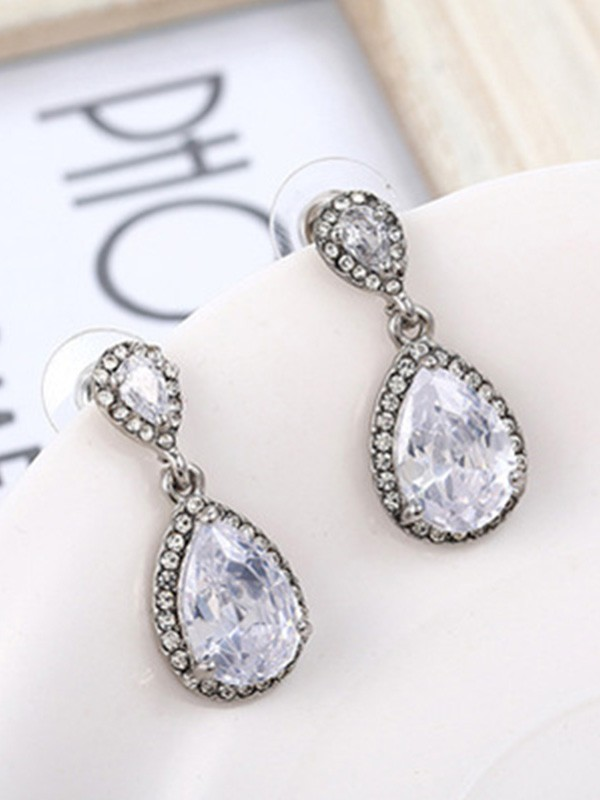 Gorgeous S925 Silver With Crystal Ladies's Earrings