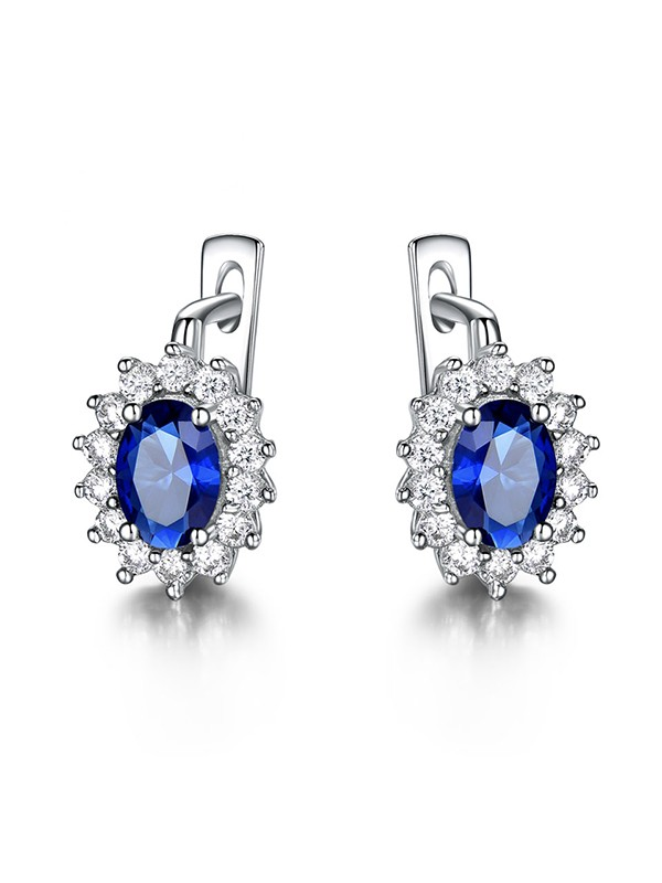 Gorgeous Gemstone With 925 Sterling Silver Earrings For Women