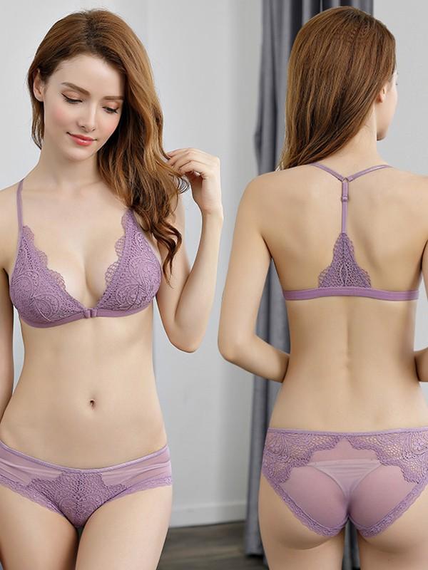 Gorgeous Halter Lace Bra Sets