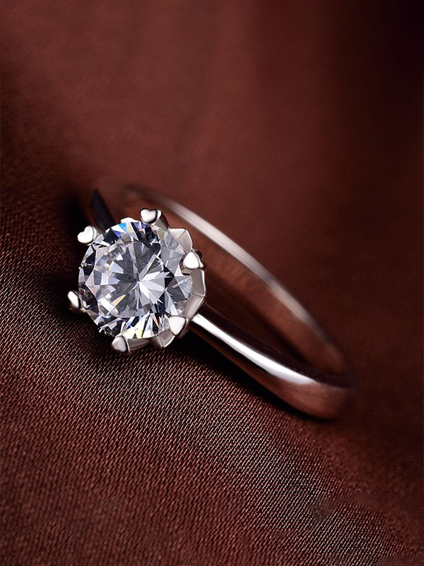 Brilliant 925 Sterling Silver With Zircon Hot Sale Wedding Rings