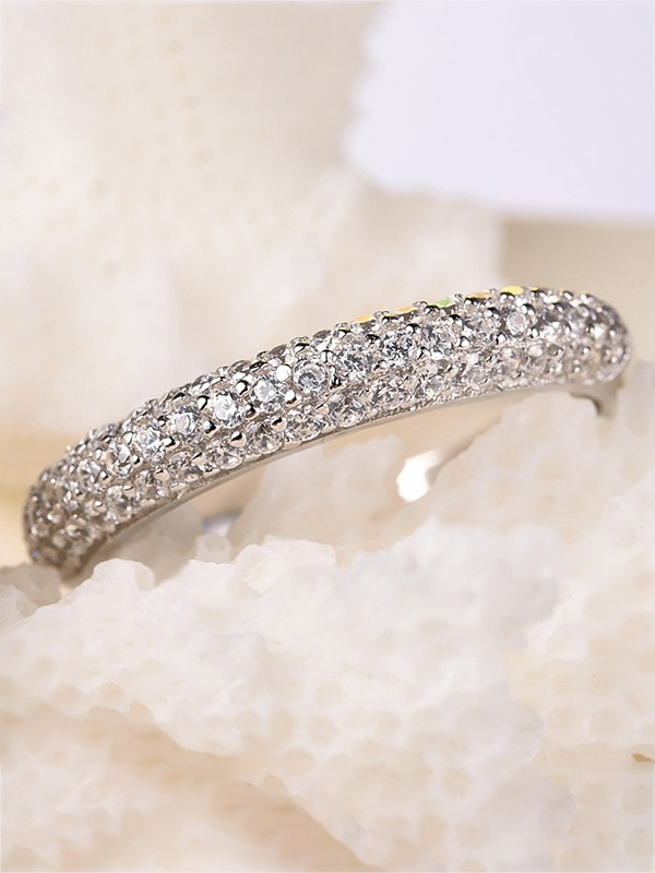 Classic S925 Silver With Zircon Wedding Rings