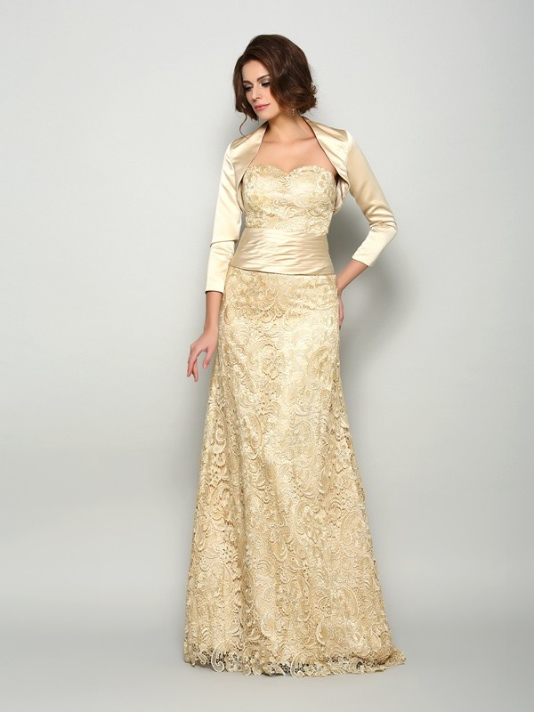 Satin Sweetheart Floor-Length Mother of the Bride Dresses