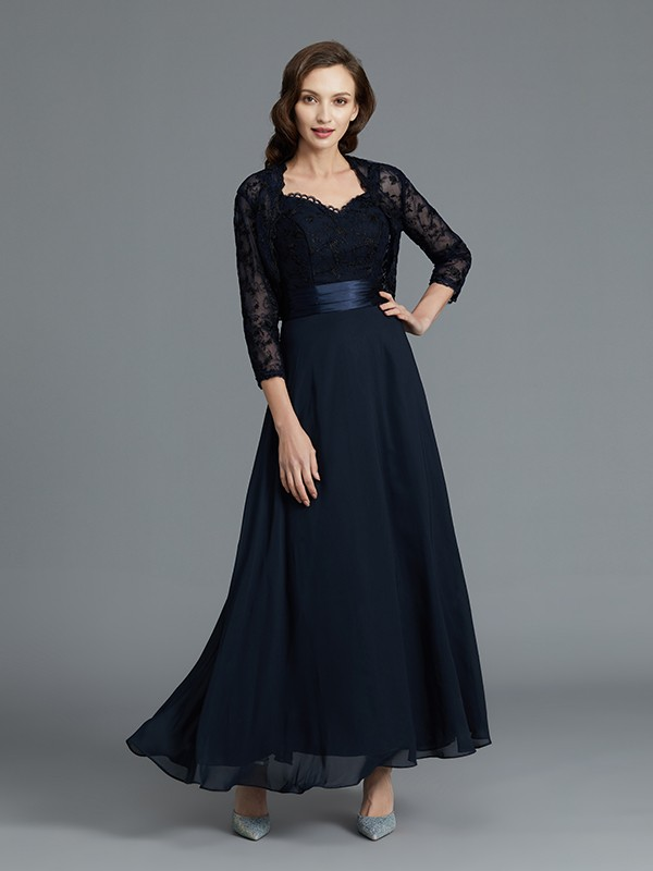 Ankle-Length Dark Navy Sweetheart Mother of the Bride Dresses