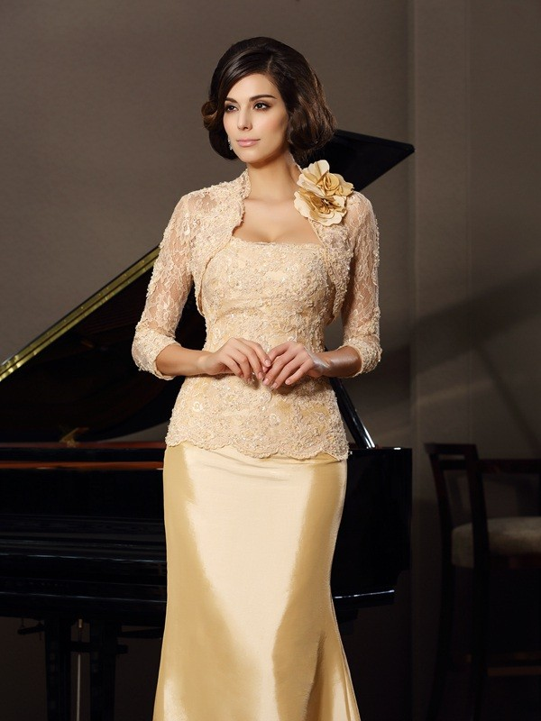 Lace 3/4 Sleeves Hand-made Flower Special Occasion Fashion Wrap