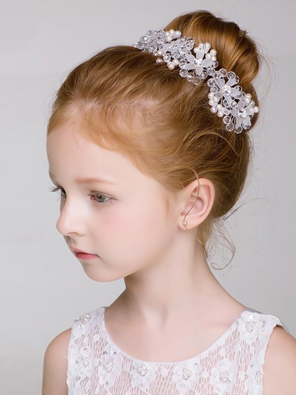 Pretty Alloy With Imitation Pearl Headbands