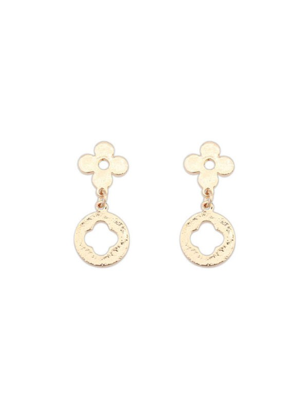Occident Simple All-match Leaf clover Fashion Earrings