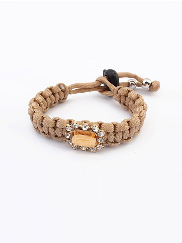 Occident All-match Woven Concise Fashion Bracelets