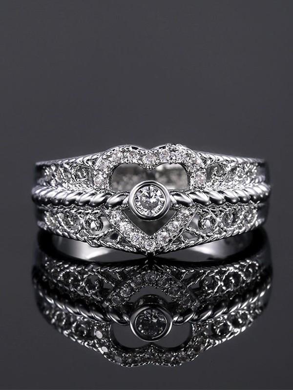 Brilliant Copper With Zircon Hot Sale Wedding Rings