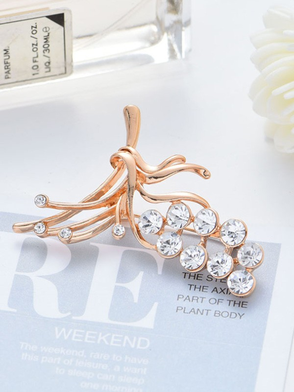 Unique Alloy With Rhinestone Ladies' Brooch