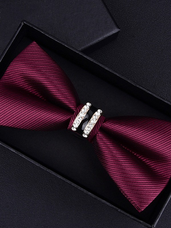Vintage Striped Polyester Bow Tie
