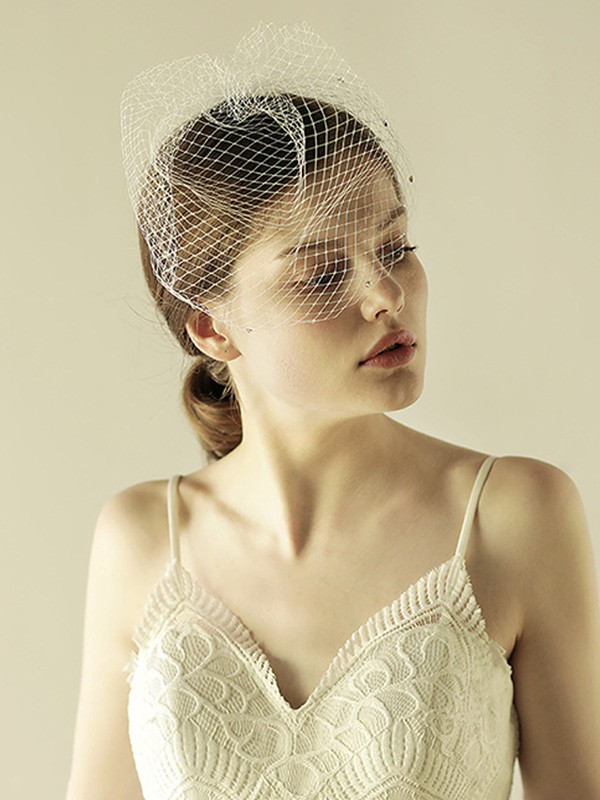 Lovely One-tier Birdcage Veils