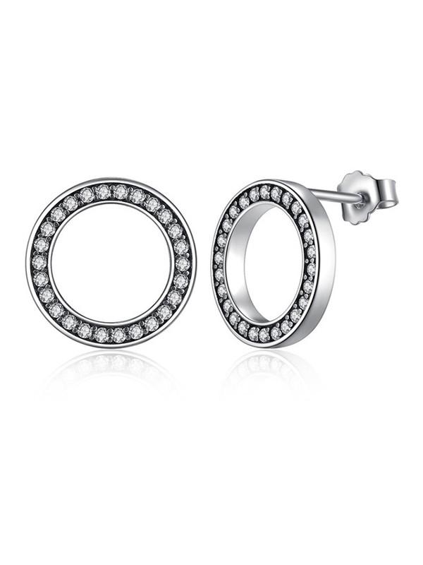 Trending Circular S925 Silver Ladies's Earrings