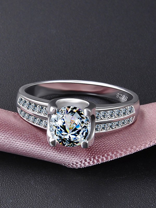 Classic S925 Silver With Zircon Hot Sale Wedding Rings