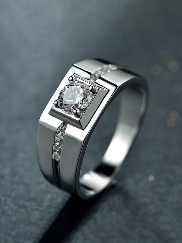 Gorgeous S925 Silver With Zircon Hot Sale Rings For Men