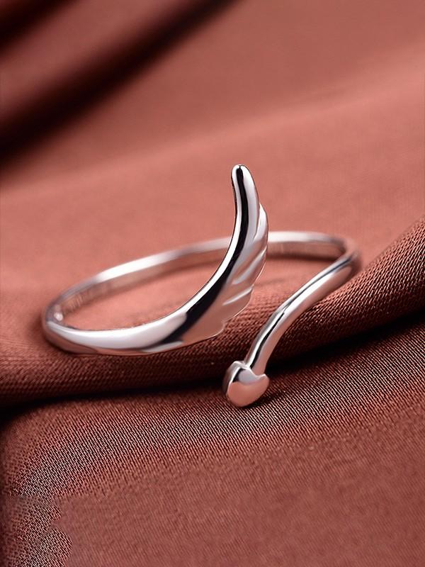 Simple 925 Sterling Silver Hot Sale Adjustable Rings