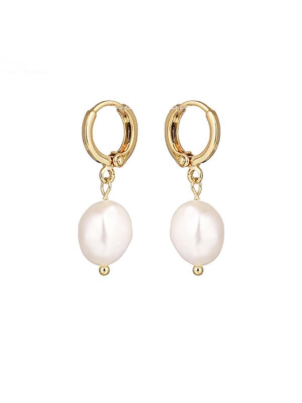 Elegant Pearl With Copper Ladies's Earrings